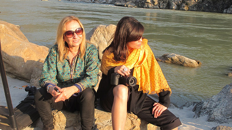 Marbeth Dunn and Berni next to Ganga River
