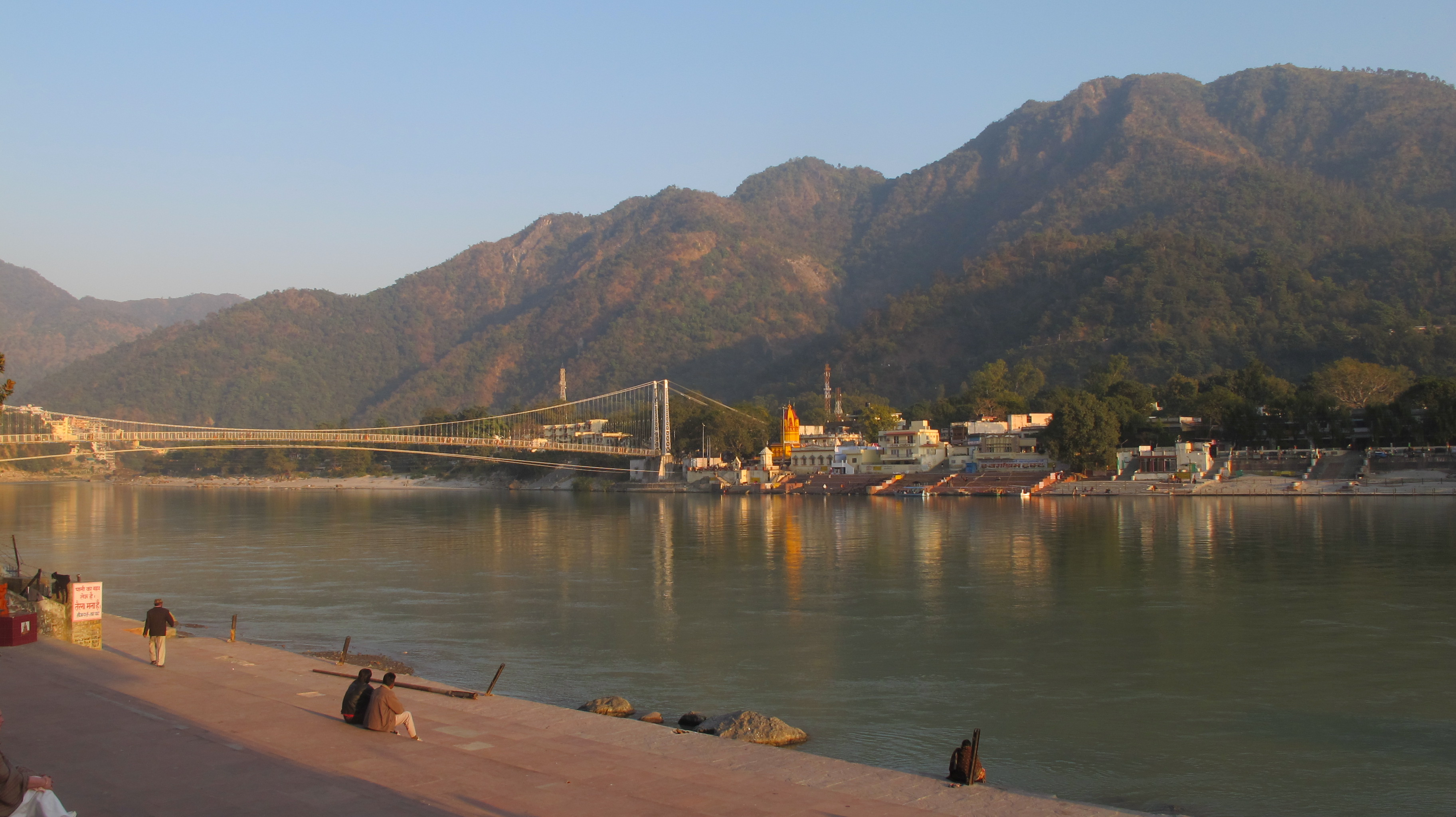 Ram Jhula Bridge in Rishikesh